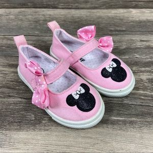 Disney Minnie Mouse Infant Toddler Pink Shoes